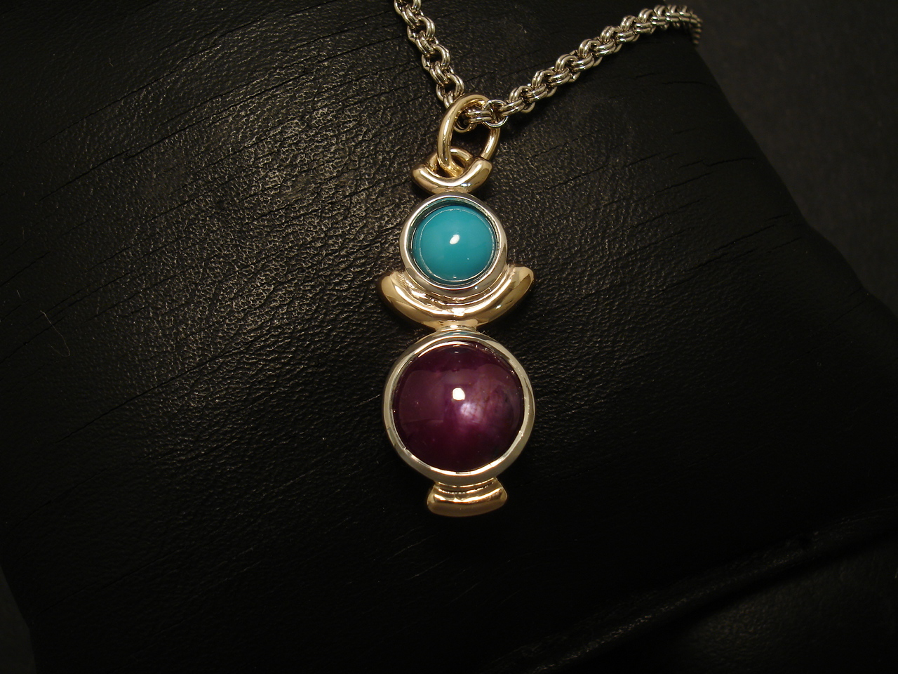 mock the ruby aura pendant necklace gold jewelry withcz jewels gods products